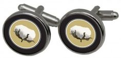 Cuff links with cotton theme ....great gift for men!  Designed by Classic Legacy