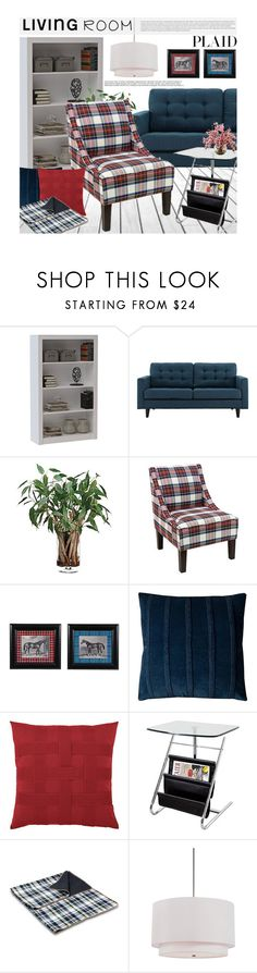 """Check It: Plaid"" by beebeely-look ❤ liked on Polyvore featuring interior, interiors, interior design, home, home decor, interior decorating, plaid, homedecor and lampsplus"