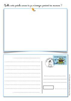 Carte postale de rentrée