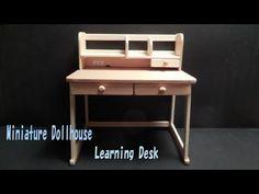 ミニチュアドールハウス 学習机Miniature Dollhouse Learning Desk - YouTube