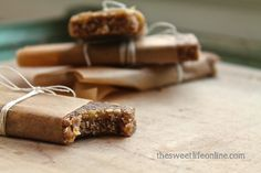 Raw Banana Bread Breakfast Bar at The Sweet Life