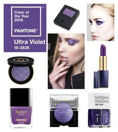 """Ultra Violet Pantone Make-Up"" by cocolavieenrose on Polyvore featuring bellezza, Gucci, Laura Mercier e Estée Lauder"