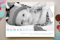 Baby Sophisticate Birth Announcements by Sydney Newsom at minted.com