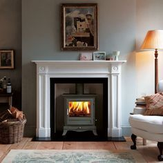 vailable in black, ivory, sage green and silver finish. Also available as a 4KW wood burning stove and 6KW multi-fuel stove. Price from £1,370