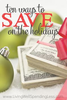 While it might feel overwhelming, or even a little bit impossible, there ARE easy, practical and--dare we say it--almost painless ways to save during the holidays.  Don't miss these ten smart ways to cut your holiday spending and start your New Year with your finances intact!