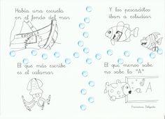 """Fragmento del poema de Gloria Fuertes: """"Había una escuela..."""""""