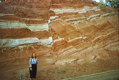 Normal Faults | Both a normal fault and a reverse fault are exposed at this outcrop.