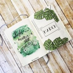 "722 Likes, 46 Comments - Rachel D. (@rachelbujo) on Instagram: ""Finally March is here and winter is almost gone (hopefully ). Here's my cover page for March, I…"""