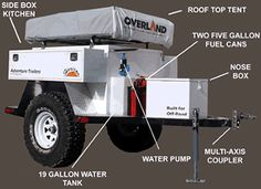 overland trailer camper for tacoma or jeep