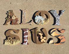 Safari Wooden Letters Animal Woodel Letters Safari Nursery