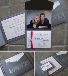 Charcoal Wedding Invitation Design
