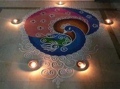 Peacock Rangoli Designs