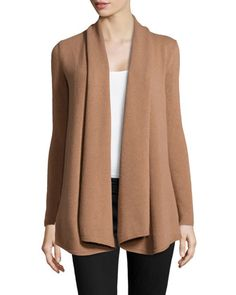 shawl-collar long cardigan//lafayette 148