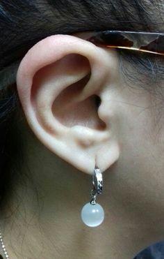 Fashion Women White moonstone Earrings Ear Jewelry a868b0629d75
