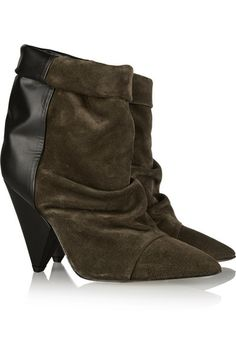 Isabel Marant suede and leather ankle boots