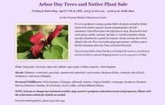 Mark your calendar to shop the Native Plant Sale at the EJC Arboretum, coming soon!