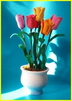 Tulipani all'uncinetto www.nonsolofiori.com