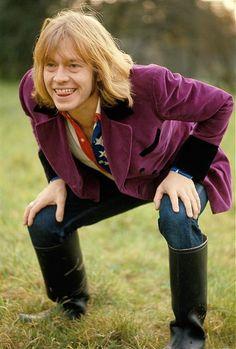 Playful Brian Jones. Nice to see his smile.