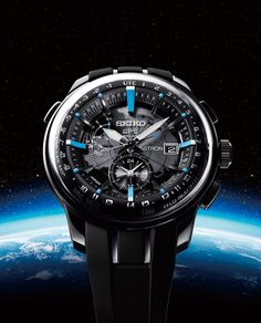 Seiko has been putting serious resources into the success of their Seiko Astron GPS Solar watch collection that they debuted about two years ago. Dream Watches, Fine Watches, Sport Watches, Amazing Watches, Beautiful Watches, Cool Watches, Titanium Watches, Solar Watch, Seiko Watches