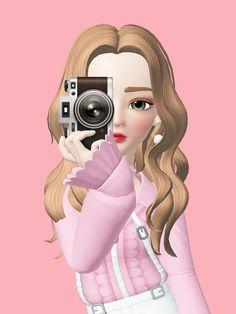 Cute Cartoon Pictures, Cute Love Cartoons, Cute Cartoon Girl, Cute Anime Wallpaper, Cute Cartoon Wallpapers, Girl Wallpaper, Baby Cartoon Drawing, Cartoon Drawings, Cartoon Art