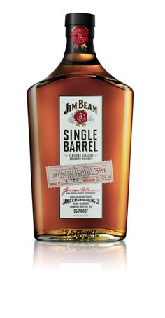 Each bottle of Jim Beam Single Barrel Bourbon is individually bottled, labeled, and hand numbered so that its heritage is unquestionable. Every glass is full bodied and smooth with attributes of oak, vanilla and caramel. – Distiller's Notes