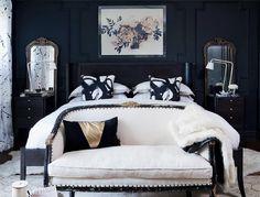 Un dormitorio en estilo dramático y oscuro ¿por qué no?