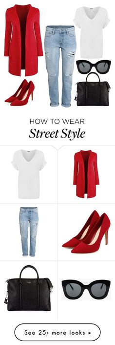 """Street style"" by adancetovic on Polyvore featuring WearAll, CÉLINE, Givenchy, women's clothing, women, female, woman, misses and juniors"