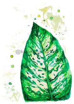 Comigo Ninguém Pode - Aquarela Plant Leaves, Shop, Plants, Club, Pen And Wash, Plant, Store, Planets