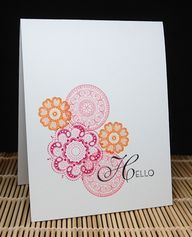 hello lovely card and stampin up | by Maureen Merritt, Mama Mo Stamps: Hello