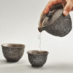 Rust Glaze Ceramic Portable Tea Pot Japanese Style Travel Tea Teapot Kettle Vintage Kung Fu Tea Set 1 Pot 2 Cups HandMade Gaiwan