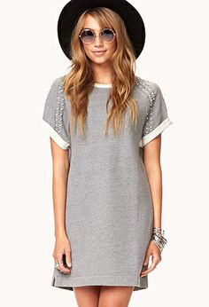 Embellished French Terry Dress | FOREVER21 - 2057996316
