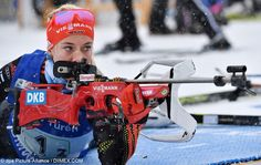 Germany win the Women's 4x6 km relay at the Biathlon World Championship in Hochfilzen, Austria