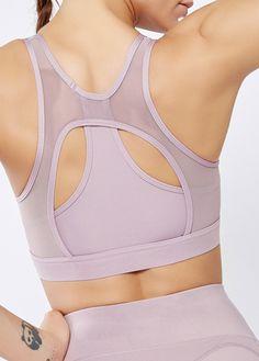 Strappy Back Solid Sports Bra outfit bodysuit #sportswearfetish