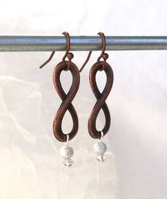 Infinity Earrings - Copper Earrings - Figure Eight Jewelry - Copper Infinity - Boho Earrings - Rustic Jewelry - Long Copper Earring - Rustic by PureBlissJewelry on Etsy Copper Earrings, Copper Jewelry, Heart Earrings, Boho Earrings, Rustic Jewelry, Unique Jewelry, Infinity Earrings, Infinity Symbol, Sale Items