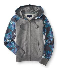 AERO Aeropostale Mens Quilted Full Zip Hoodie Hooded Sweatshirt  XS,S,M,L,XL NEW