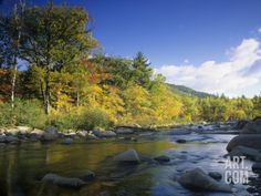 Swift River in the Autumn, White Mountains National Forest, New Hampshire, USA Photographic Print by Adam Jones at Art.com