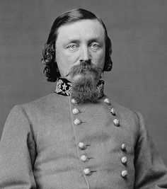 Maj-Gen George Edward Pickett (16.1.1825|30.7.1875) USMA, 1846 - last in class. Mexican-American War. Resigned Capt U.S. Army 25.6.1861. Fought Seven Pines. Severely wounded at Gaines Mill. Advanced his division against center of Union line on Cemetery Ridge on 3rd day at Gettysburg. Action became known as Pickett's Charge. Defense of Petersburg. Defeated by Sheridan at Five Forks while away from front line for most of battle. Blamed Lee after the war for destroying his division at…