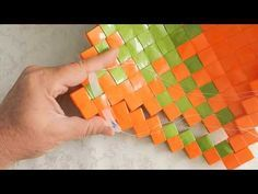 sådan syr du rammeflet sammen - YouTube Crafts To Make, Arts And Crafts, Diy Crafts, Diy Paper, Paper Crafts, Origami And Quilling, Oragami, Doll Making Tutorials, Paper Weaving