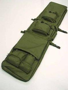 46-Dual-Tactical-Rifle-Sniper-Carrying-Case-Gun-Bag-Olive