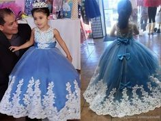 2020 Baby Blue White Lace Flower Girls Dresses For Wedding Birthday Party Princess Keyhole Back Bows Cheap Applique First Communion Dress Green Flower Girl Dresses Inexpensive Flower Girl Dresses From Stunningdress88, $61.81| DHgate.Com Green Flower Girl Dresses, Lace Flower Girls, Green Dress, White Lace, Blue And White, Wedding Girl, Evening Dresses Online, Girls Pageant Dresses, Communion Dresses