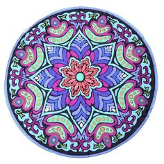 Bohemian Round Beach Towels Indian Elephant Pool Home Shower Towel Blanket Table Cloth Mat