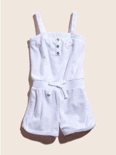 GUESS Kids Girls Terry-Cloth Romper,