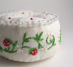 Strawberry Pincushion @Shelley Overholt..I think you will like this too