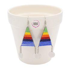 Seed Bead Earrings, Polymer Clay Earrings, Beaded Earrings, African Earrings, African Beads, Beading Jewelry, Paper Jewelry, Kids Art Galleries, Bead Crafts