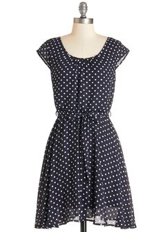 You winsome, you're winsome in this dotted dress!