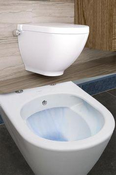Toaleta myjąca Harmony MA to idealne rozwiązanie do małych łazienek i toalet, gdzie brakuje miejsca na instalację tradycyjnego bidetu. Do miski wystarczy podłączyć ciepłą i zimną wodę i jest już gotowa do użytkowania. #miskaWC #toaletazbidetem #miskaWC2w1 #wyposażeniełazienki Bathtub, Bathroom, Retro, Standing Bath, Washroom, Bathtubs, Bath Tube, Full Bath, Bath