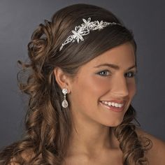 Floral Garden Triple Flower Bridal Headband! Visit specialoccasionsforless.com for fabulous wedding accessories!