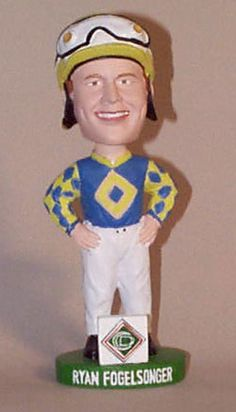 Horse Racing Collectibles - Seabiscuit bobbleheads and mugs, jockey bobbleheads, horse bobbleheads