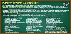 Now that the kids are Back-to-School, don't forget all of the wonderful tools & resources you have right here at the library!  We're happy to help!