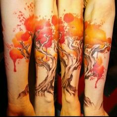 Tattoos in the style of watercolor   Oddities